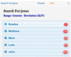 Easy but Strong Search Bible Tool